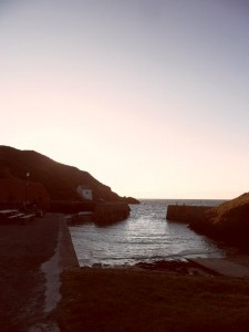 Watching the sunset at Porthgain, come and stay at Ocean Haze for great family accommodation for family holidays in st. Davids